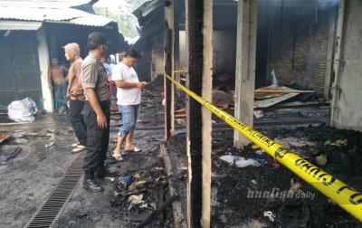 Kebakaran di Pasar TPO Monza Tanjung Balai Hanguskan 700 Kios