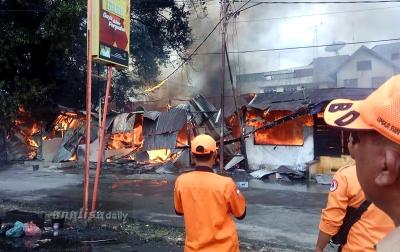 11 Rumah dan Kios Terbakar di Pematang Siantar