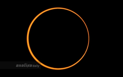 Gerhana Matahari Cincin Terlihat Sempurna di Simeulue