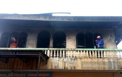 2 Ruko di Jalan Sisingamangaraja Terbakar