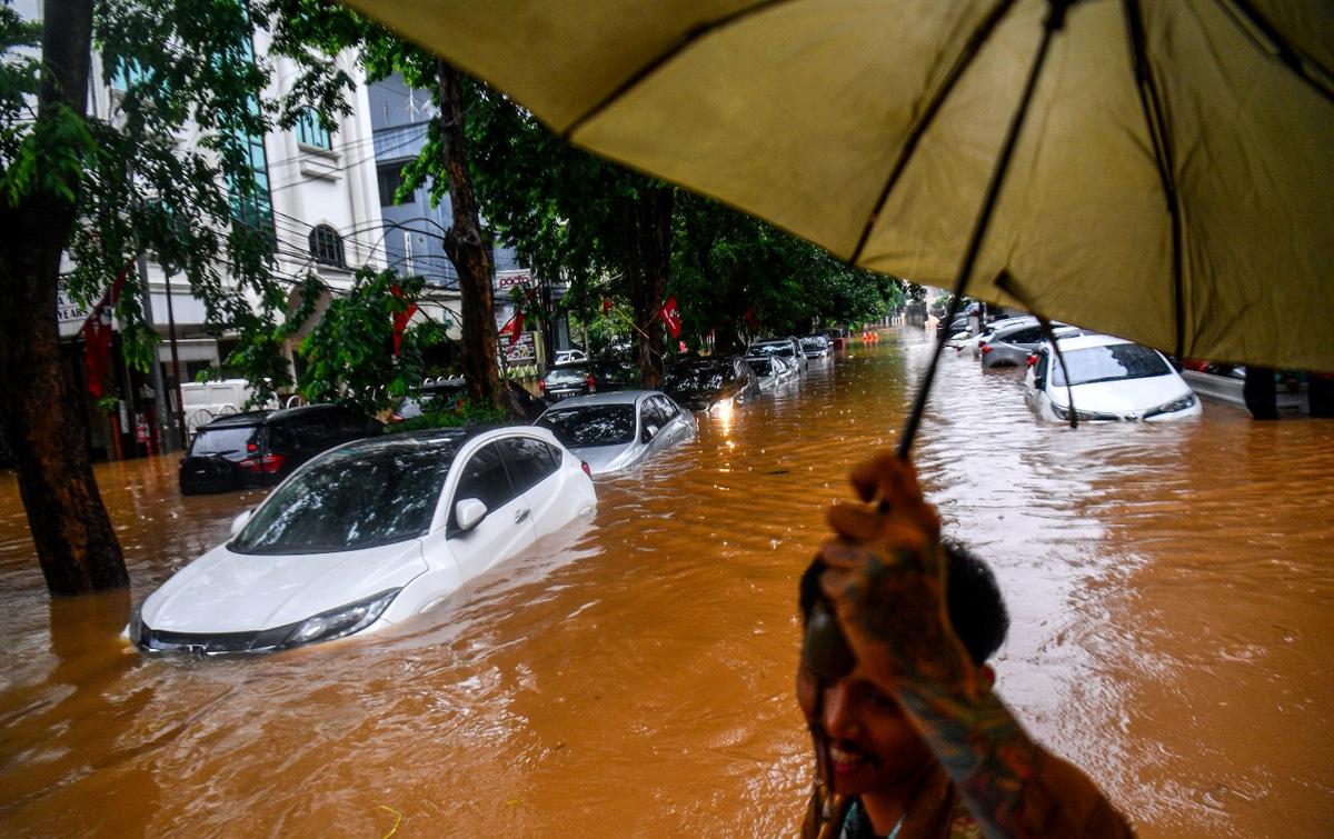 Foto: Banjir Jakarta di Tahun Baru 2020