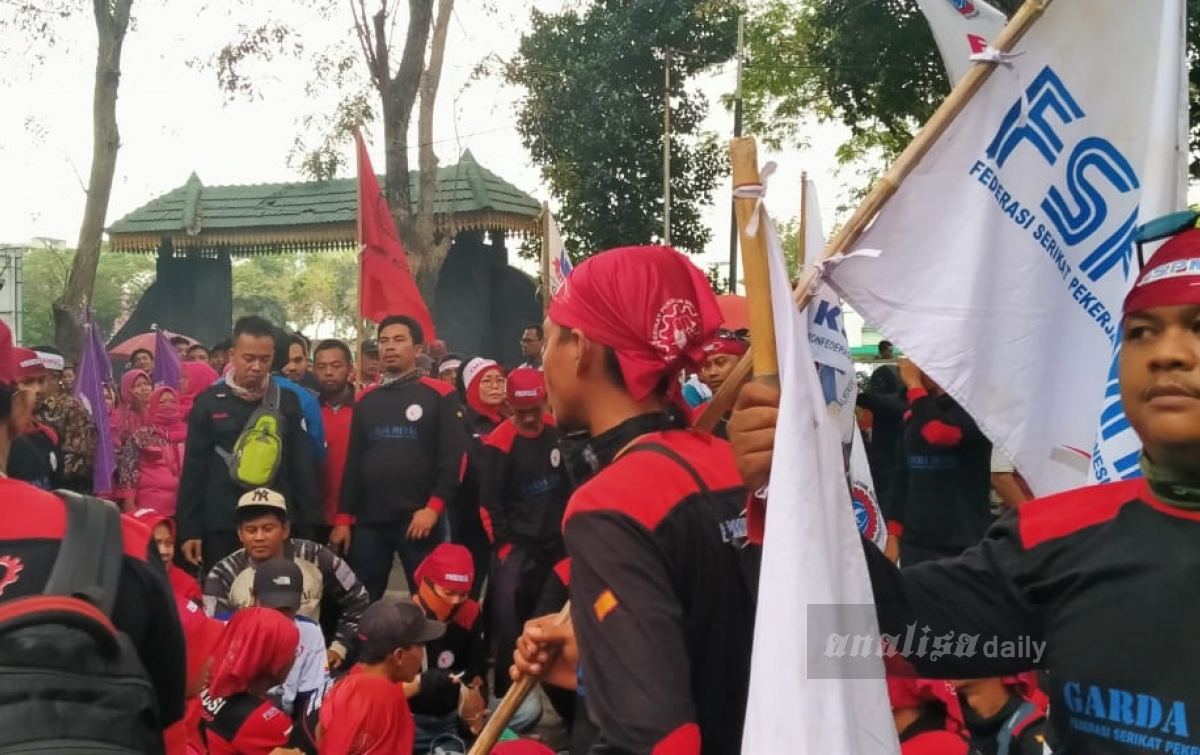 Aliansi Pekerja Sumatera Utara Tolak RUU Omnibus Law