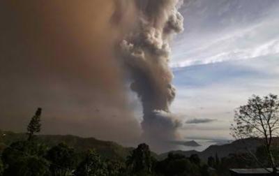 Status Gunung Api Taal di Filipina Naik