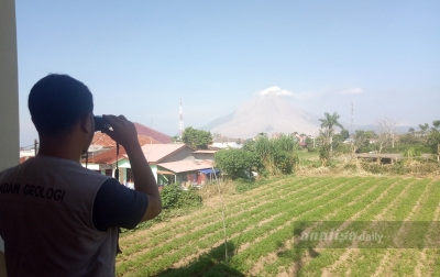 Status Gunung Sinabung Segera Diturunkan ke Waspada