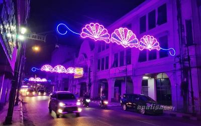 Lampu Hias di Kesawan Memperindah Kota Medan