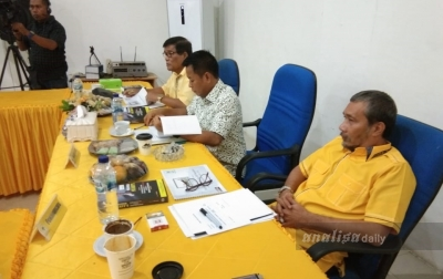 Rolel Harahap Ikuti Fit and Proper Test Partai Golkar Untuk Pilkada Medan