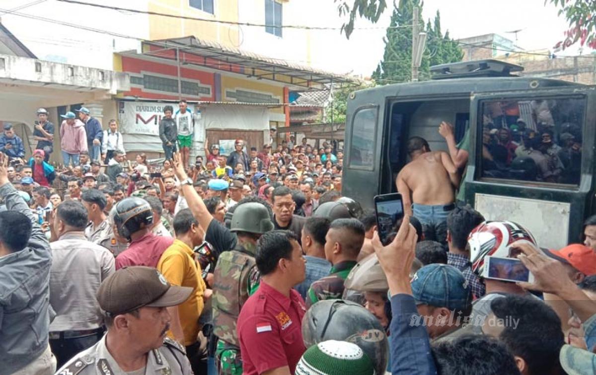Ratusan Tahanan Dievakuasi ke Polres Karo