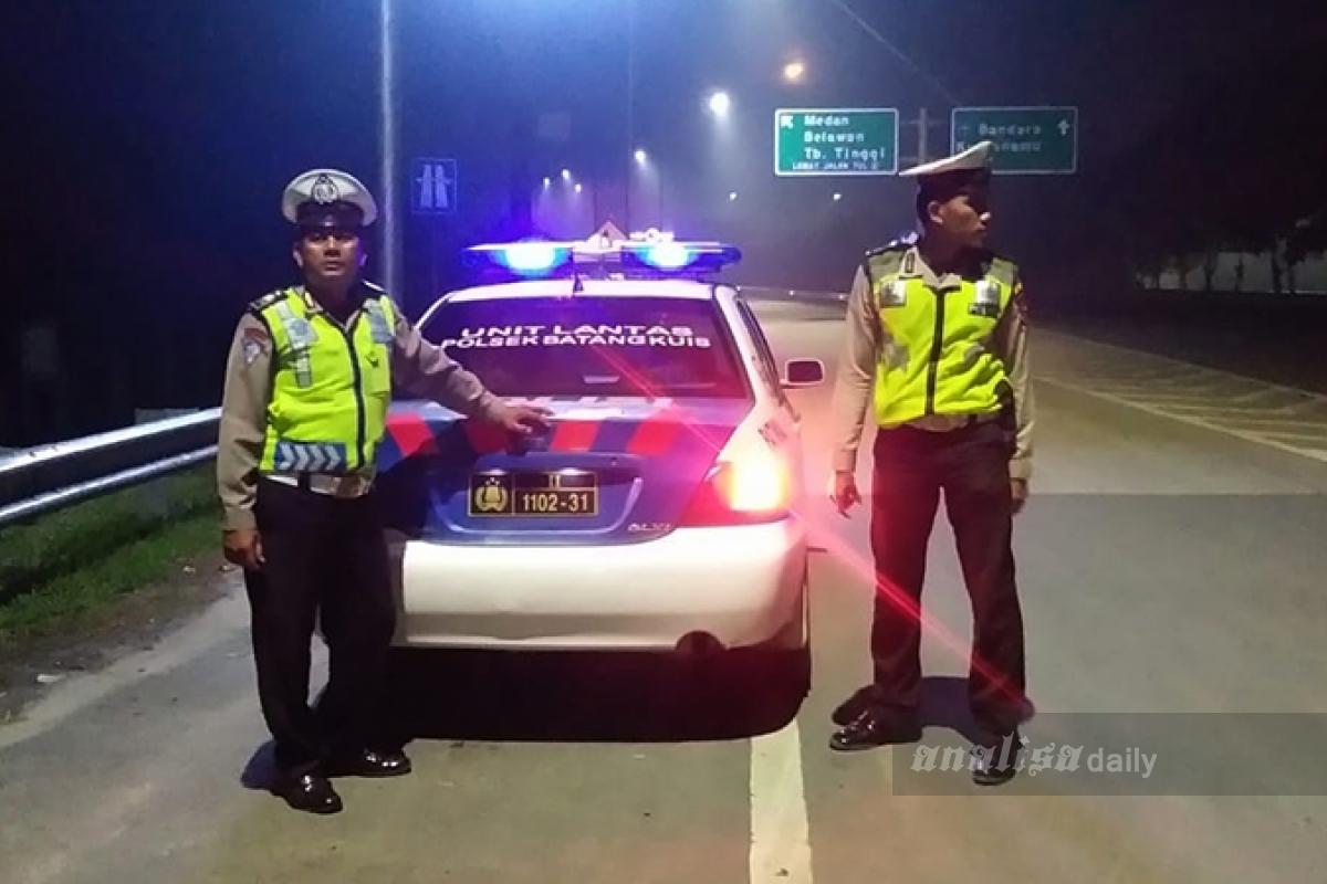 Antisipasi Gangguan Kamtibmas, Polisi Patroli di Jalan Arteri Kualanamu