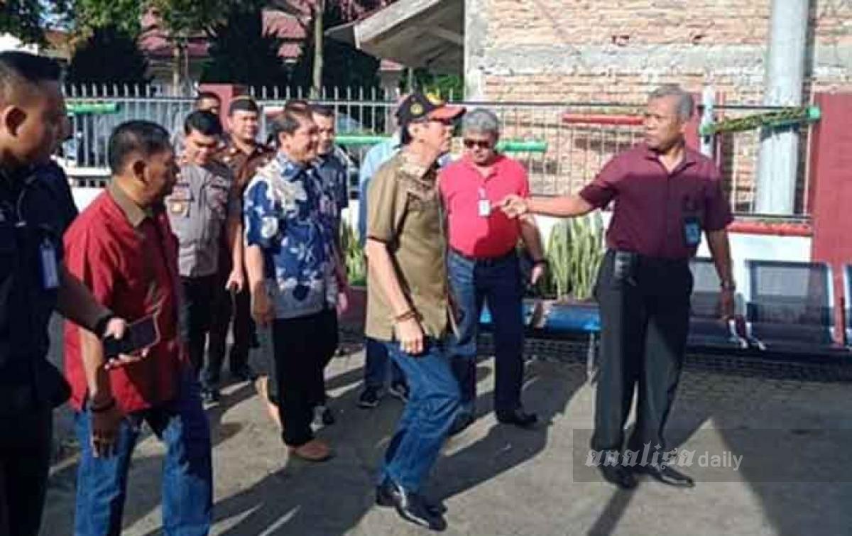 Kunjungi Rutan Kabanjahe, Yasonna Panggil Sipir Terlibat Narkoba