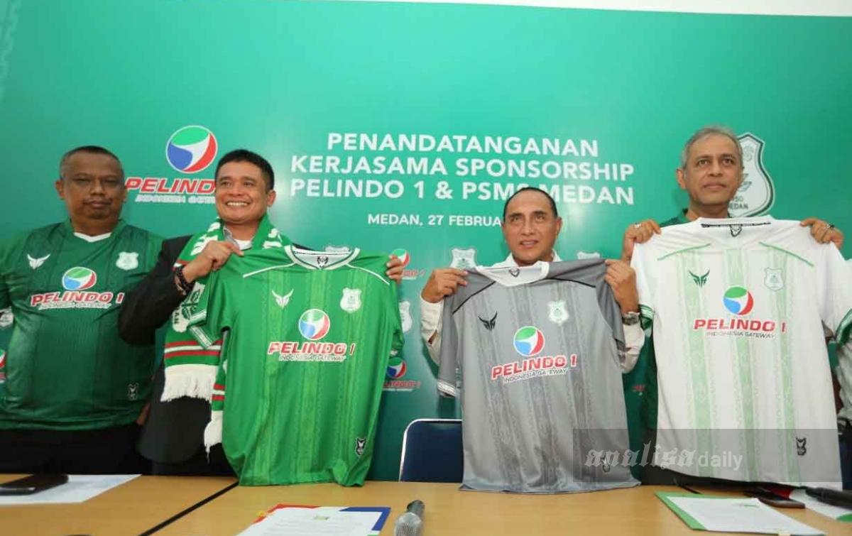 Pelindo I Sponsor Utama PSMS di Liga 2 2020