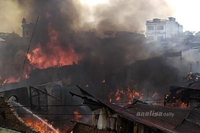 Puluhan Rumah Warga di Siantar Hangus Terbakar