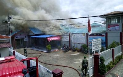 Foto: Kebakaran di Rutan Kabanjahe