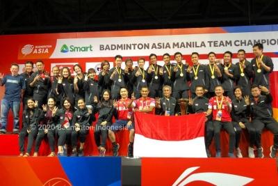 Indonesia Hat-trick Juara Badminton Asia Team Championships