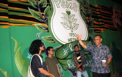Akhyar Apresiasi Karya Mural Anak Muda Medan