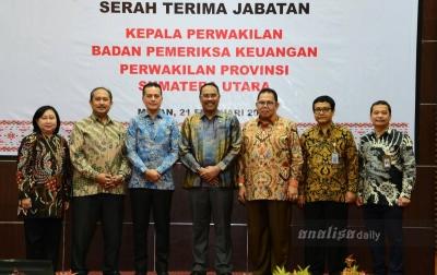 Sertijab Kepala Perwakilan BPK Perwakilan Provinsi Sumatera Utara