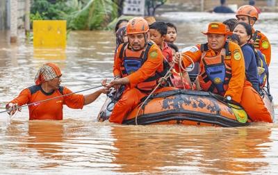BNPB: 15.734 Kepala Keluarga di Karawang Terdampak Banjir