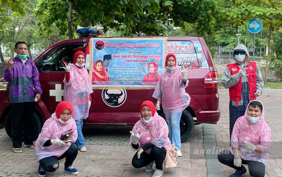 Majelis Taklim DPC PDI Perjuangan Medan Gelar Aksi Lawan Covid-19