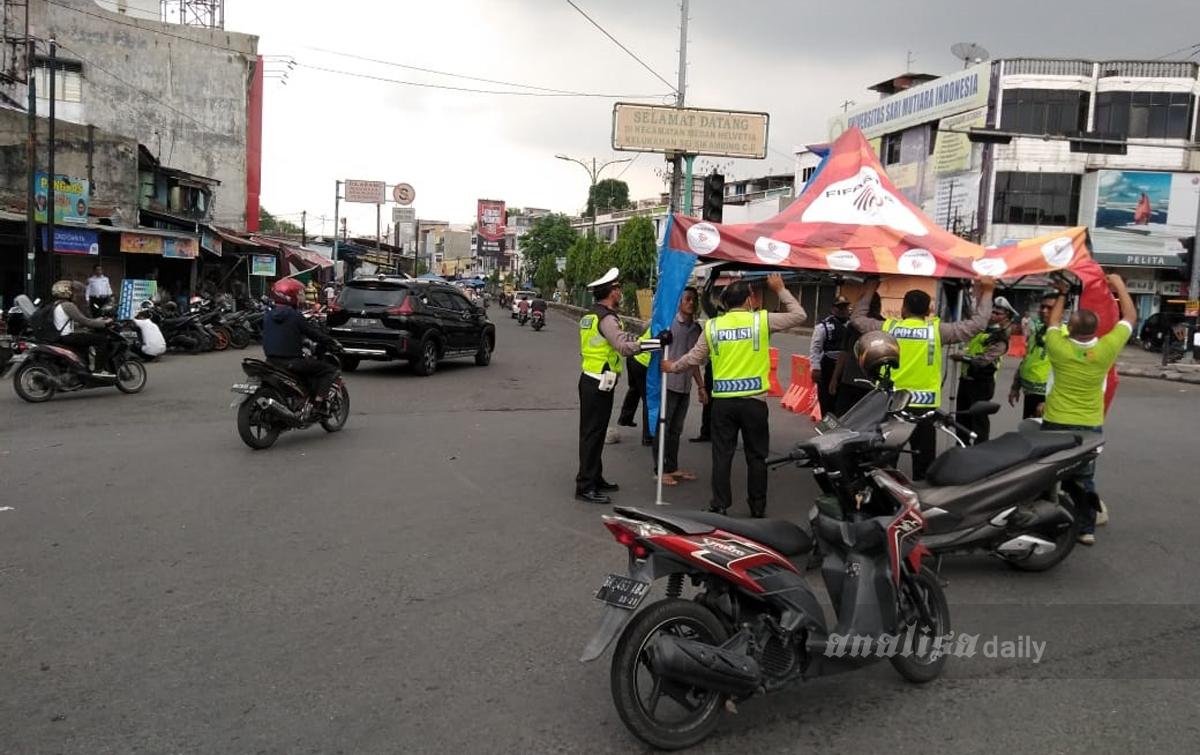 Foto: Penutupan Jalan di Kota Medan