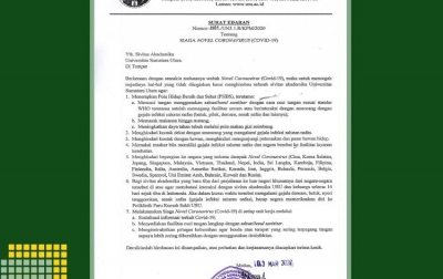 USU Siaga COVID-19, Rektor Imbau Terapkan PHBS