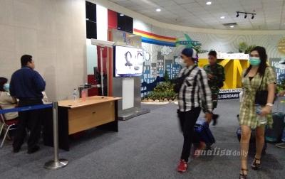 KKP Kualanamu Pasang Thermoscener di Terminal Kedatangan Domestik