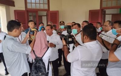 Kapolresta Deli Serdang Dampingi Gubsu Mengecek Fasilitas RS GL Tobing PTPN II