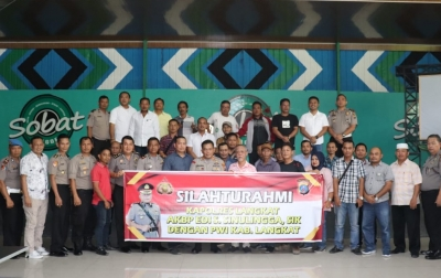 Kapolres Langkat Gelar Silaturahmi dengan Awak Media