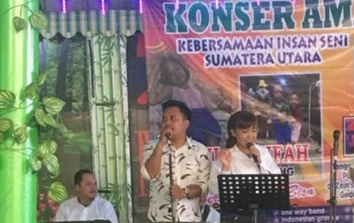 Relawan Bobby Nasution Ikuti Galang Dana Untuk Shakila