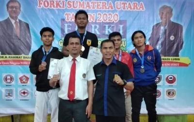 Rapsan Harahap, Siswa SMAN 1 Padang Bolak Raih Juara Kejurda Forki
