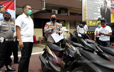 Polrestabes Medan Amankan Komplotan Geng Motor