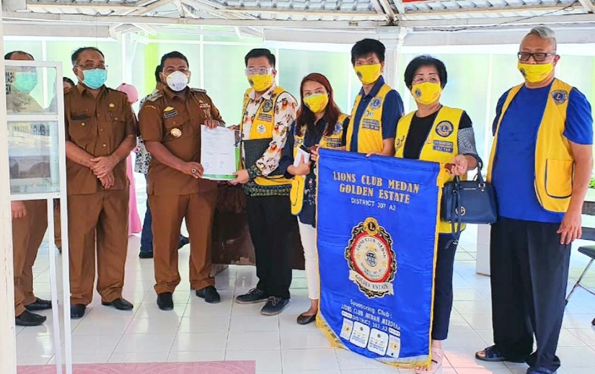 RSUD dr Tengku Mansyur Terima Bantuan APD dari LCGE