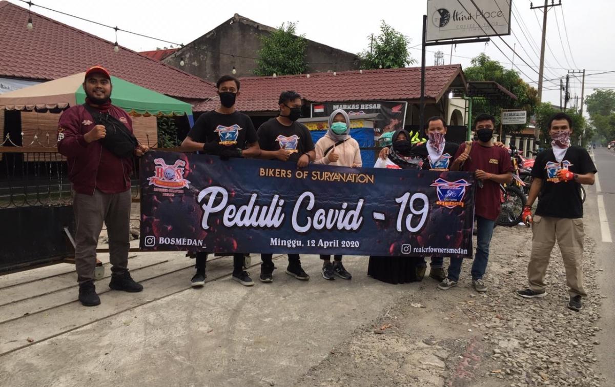 Aksi Sosial, Komunitas Motor Berbagi Takjil di Tengah Pandemi Covid-19