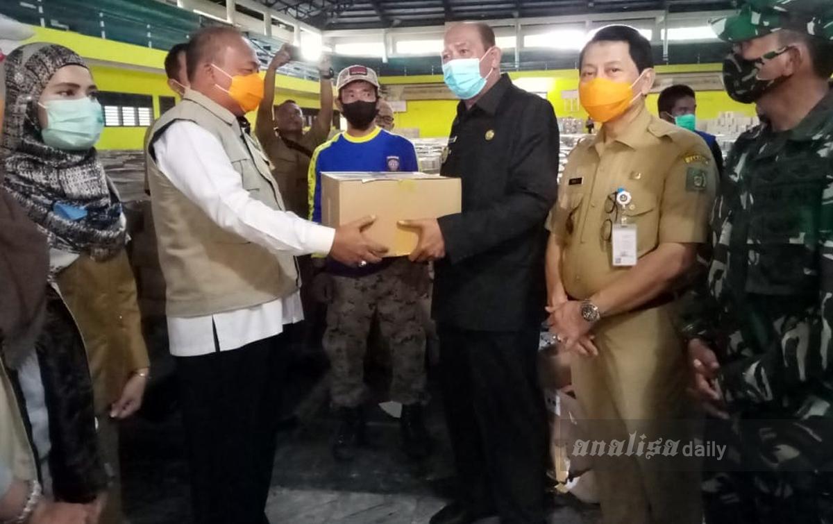 11.395 Paket Sembako dari Pemprov Sumut Tiba di Langkat