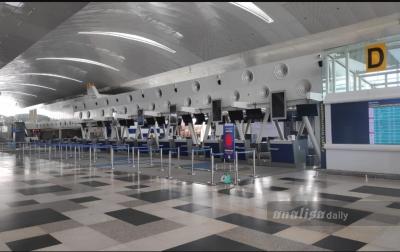 Tidak Ada Penumpang di Bandara Kualanamu