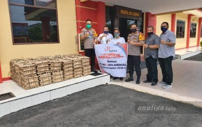 Polresta Deliserdang Terima Bantuan 15.000 Butir Telur
