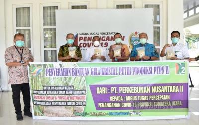 Bantu Warga, PTPN II Salurkan Gula Pasir Melalui Pemprov Sumut