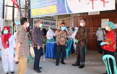 Hasil Rapid Test 10 Orang di Tanjungmorawa Reaktif Covid-19