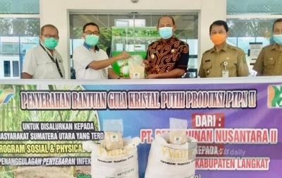 PTPN II Salurkan Gula Putih ke Pemkab Langkat