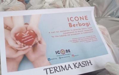 ICONE Kirim Bantuan ke Tiga Kota di Indonesia