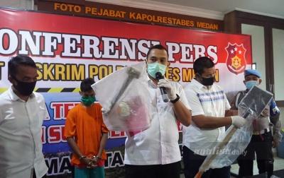 Reskrim Polrestabes Medan Ungkap Pembunuhan di Bengkel