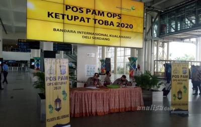 Polresta Deliserdang Lakukan Pengamanan di Bandara Kualanamu