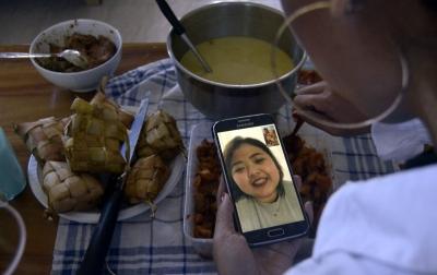 Foto: Silaturahmi Lebaran Secara Virtual