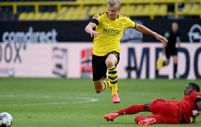 Dortmund Kalah, Erling HaalandCedera