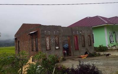Sejumlah Rumah di Tapanuli Utara Rusak Diterjang Angin Kencang