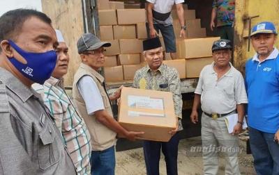 21.797 Paket Sembako Bantuan Pemprov Sumut Tiba di Palas