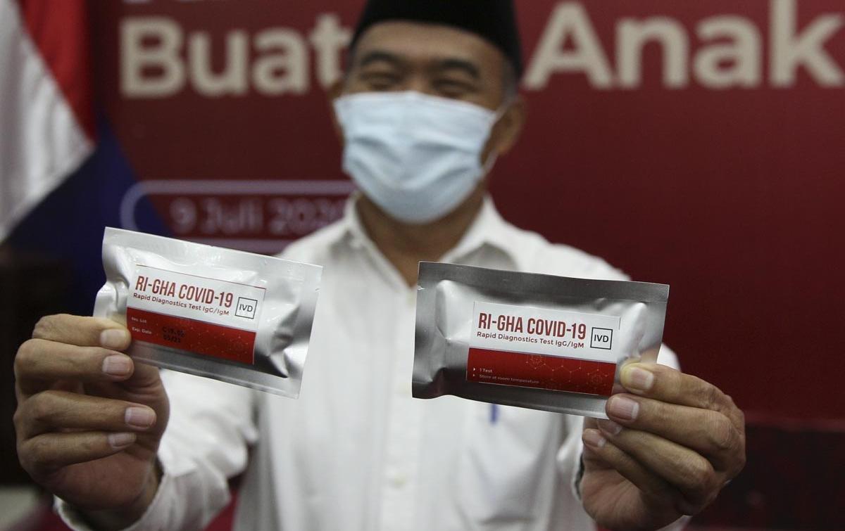 Foto: Peluncuran Alat Tes Cepat Covid-19 Buatan Indonesia