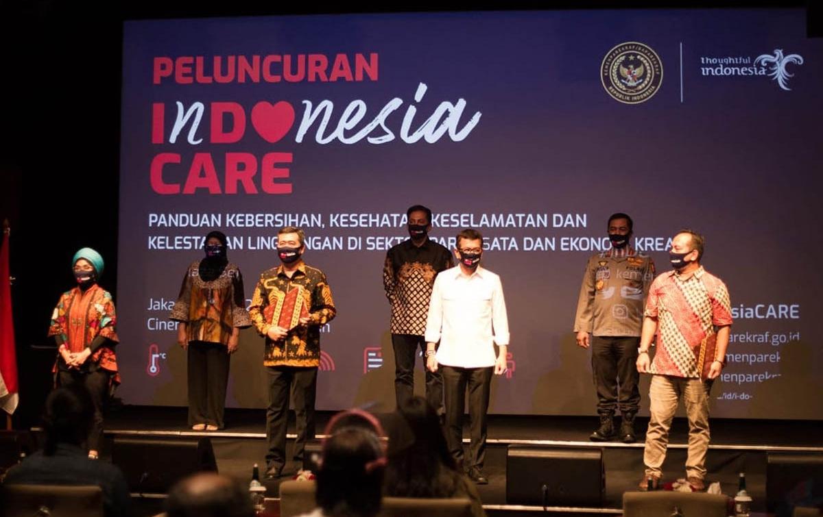 Kemenparekraf Luncurkan Indonesia Care, Komitmen Penerapan Protokol Kesehatan
