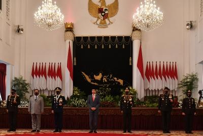 Jokowi Sampaikan Pesan Pada Peringatan Hari Bhayangkara