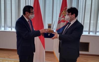 Yasonna Perkuat Kerja Sama Tangani Kejahatan Terorganisasi Transnasional dengan Serbia