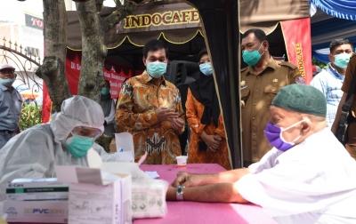 INDOCAFE Dukung RS USU Gelar Rapid Test Massal di Deliserdang
