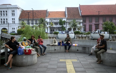 Foto: Suasana Kawasan Kota Tua Jakarta Saat PSBB Transisi
